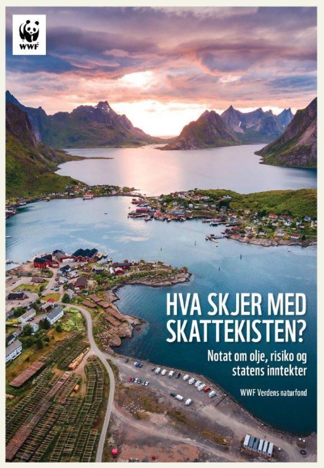 Forsiden til rapporten om skatteinntekter fra oljevirksomhet utenfor Lofoten, Vesterålen og Senja