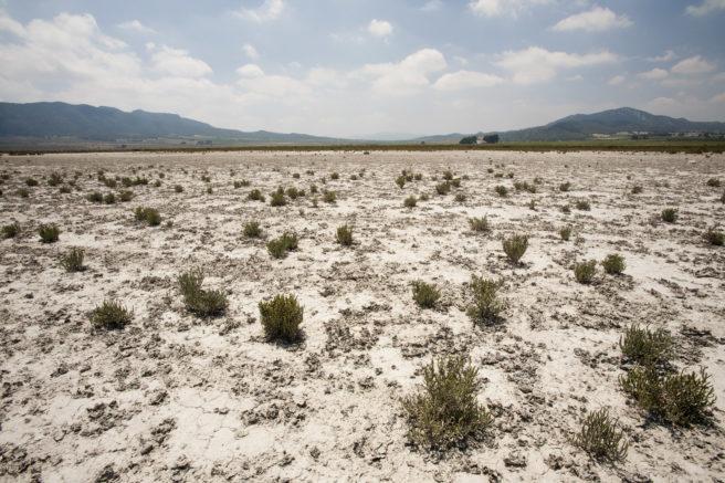 En uttørket sjø i Spania.