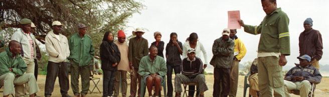 Opplæring av lokalbefolkning ifm Namibia-prosjektet